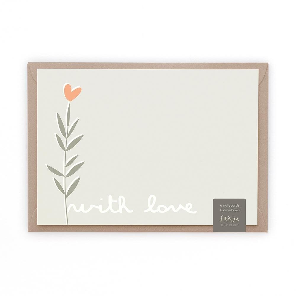 WITH LOVE - Note Cards - Freya Art & Design