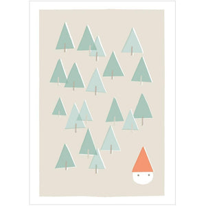 XMAS FOREST - Mini Gift Card - Freya Art & Design