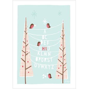 XMAS HI - Mini Gift Card - Freya Art & Design