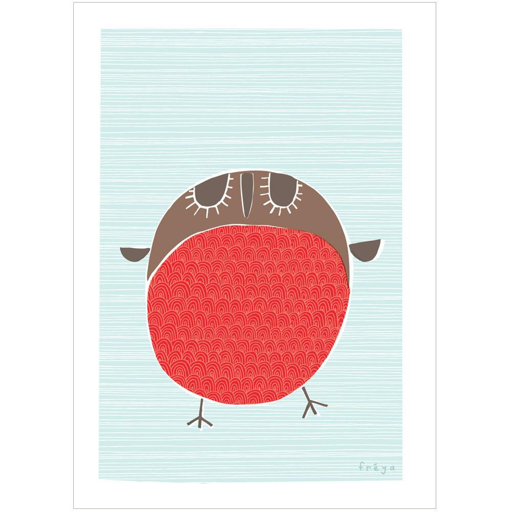 XMAS ROBIN - Mini Gift Card - Freya Art & Design