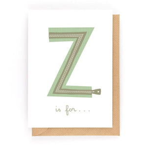 Z IS FOR... - Greeting Card - Freya Art & Design