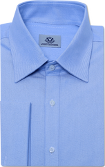 BLUE PINPOINT OXFORD DRESS SHIRT