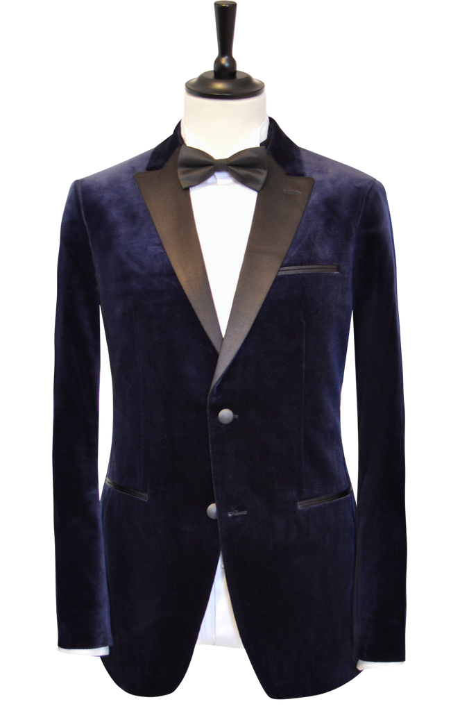 MIDNIGHT BLUE VELVET SUIT