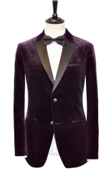 DEEP PURPLE VELVET SUIT
