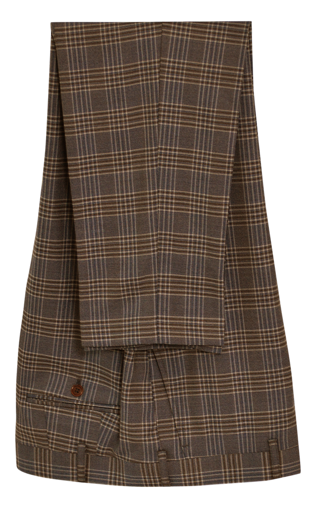 GLEN PLAID BROWN SUIT