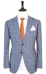 GLEN PLAID BLUE SUIT