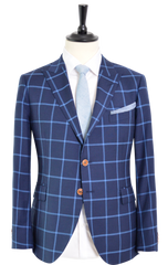 BLUE WINDOW PANE SUIT