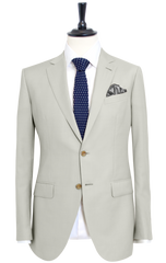 IVORY WHITE TWILL SUIT