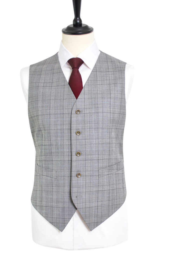 GLEN PLAID LIGHT GREY SUIT