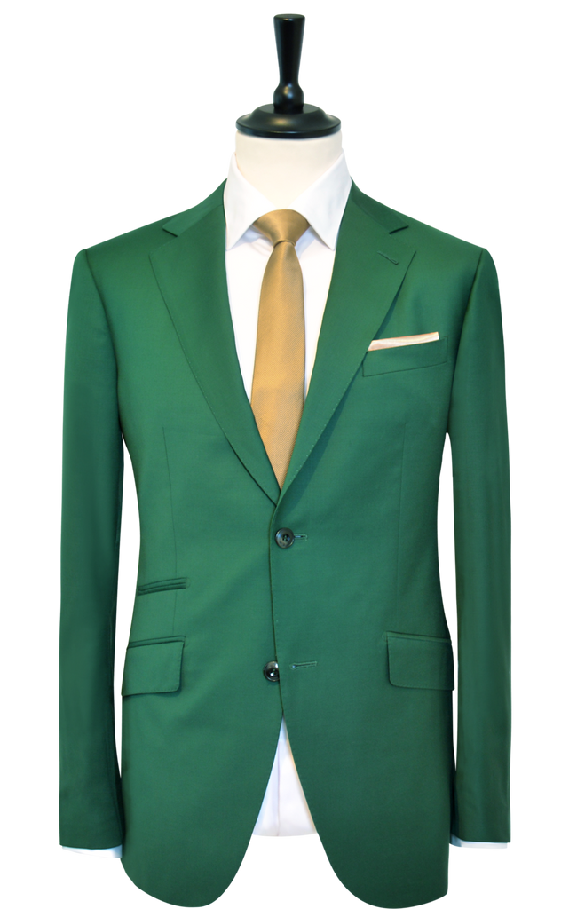 BOTTLE GREEN SUIT