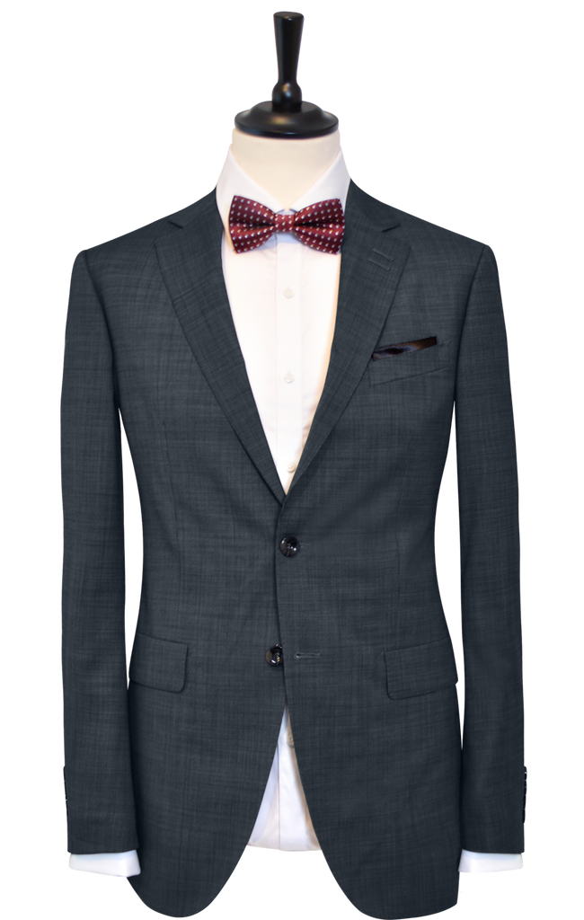 BIRDSEYE BLACK BLUE SUIT