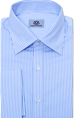 BLUE & WHITE PIN STRIPE DRESS SHIRT