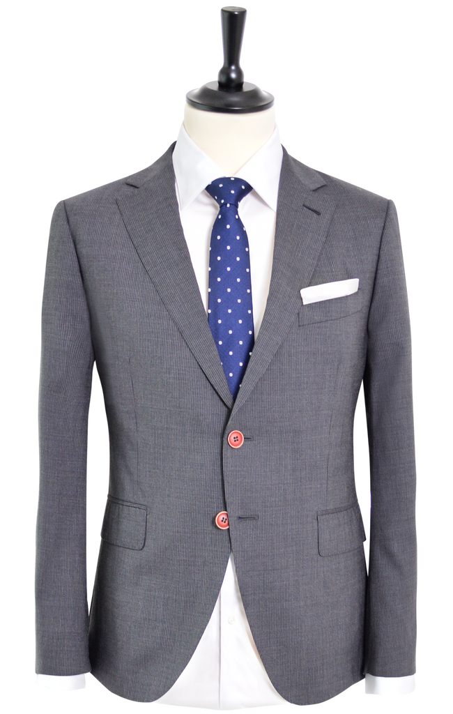 NARROW PIN STRIPE GREY SUIT