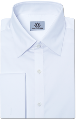 WHITE CLASSIC TWILL DRESS SHIRT
