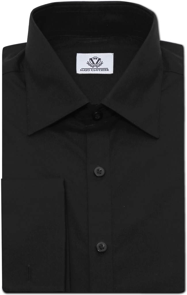 BLACK TWILL DRESS SHIRT