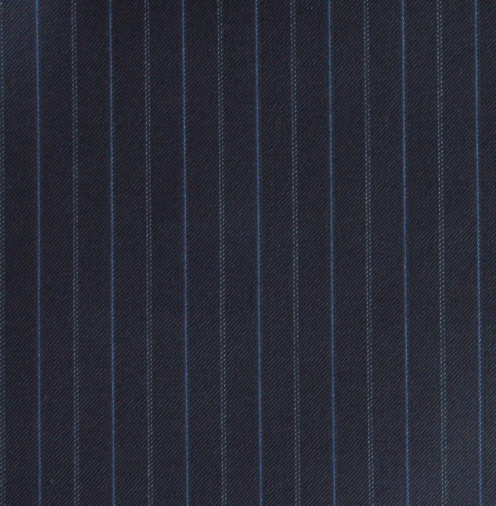 Navy and Blue Pin Stripe Suit