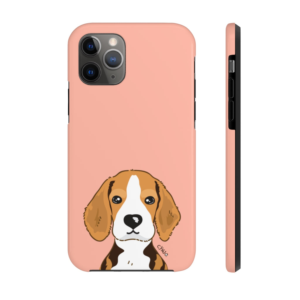 Beagle Tough Phone Cases (Peach)