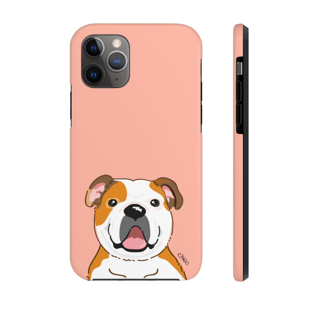 Bulldog Tough Phone Cases (Peach)