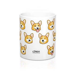 "Mug ""Naughty Faces"" Corgi"