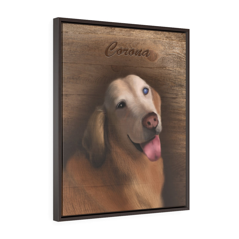 Custom • Framed Premium Gallery Wrap Canvas • Woody Background