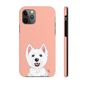 Westie Tough Phone Cases (Peach)