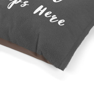 Pet Bed - Good Girl Sleeps Here (Dark Grey)