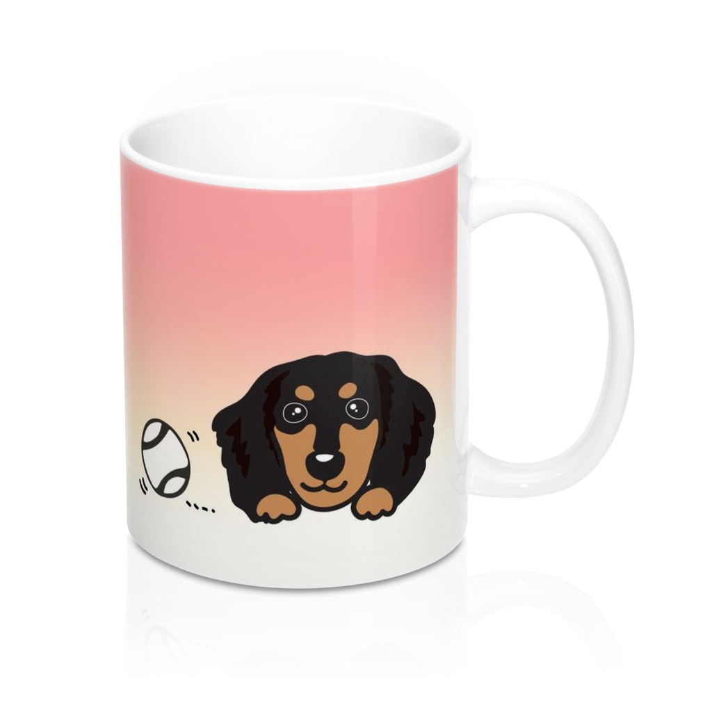 "Mug ""My Cup Of Tea"" Black & Cream Dachshund"