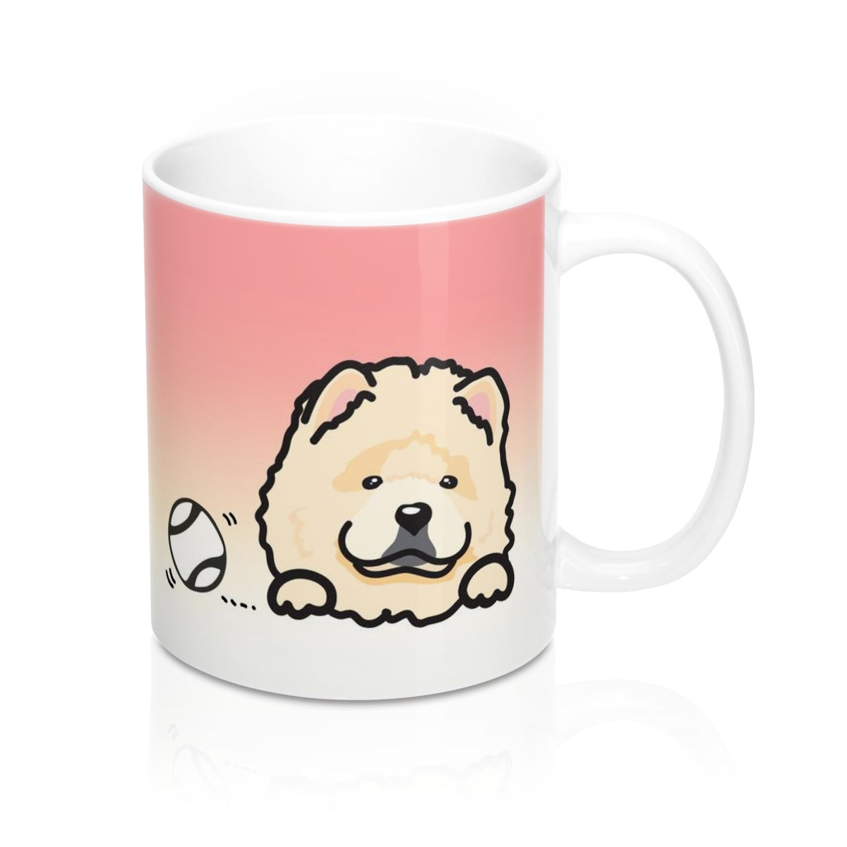 "Mug ""My Cup Of Tea"" Cream Chow Chow"