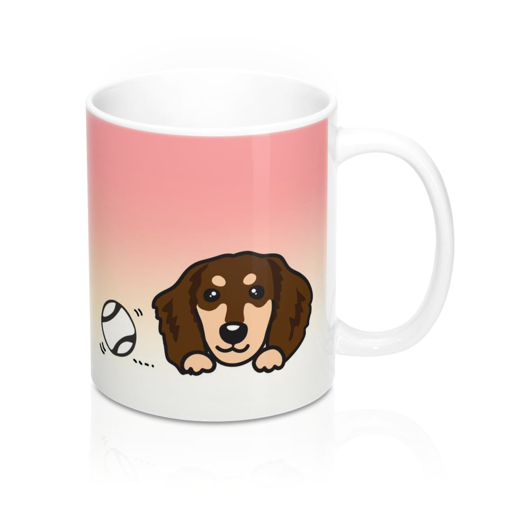 "Mug ""My Cup Of Tea"" Chocolate & Cream Dachshund"
