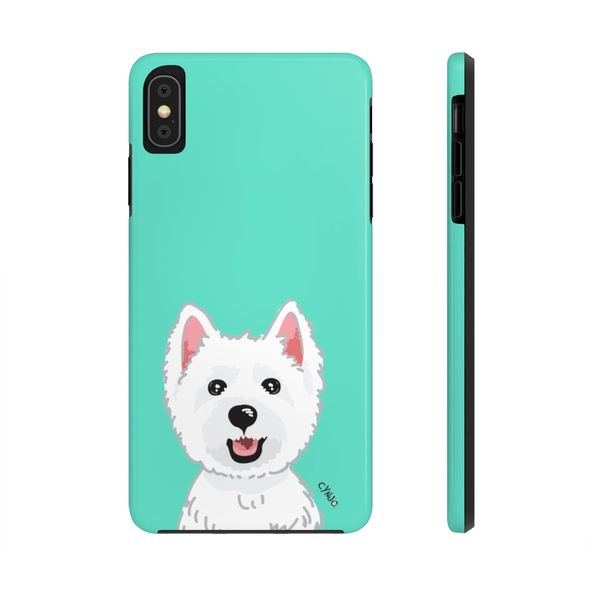 Westie Tough Phone Cases (CYNJO Blue)