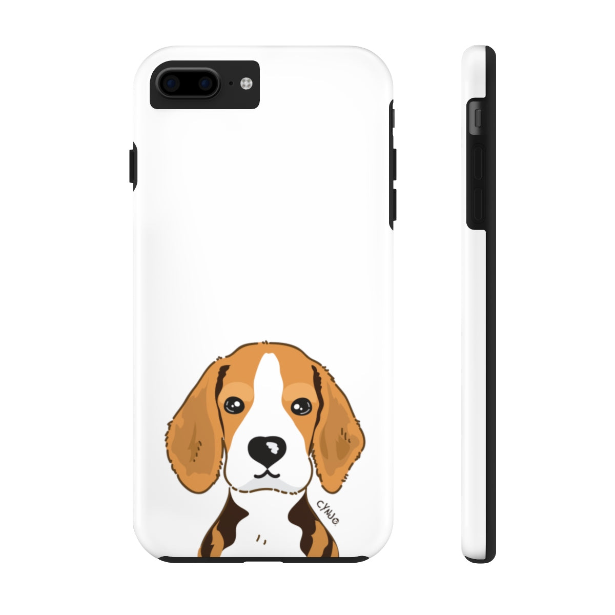 Beagle Tough Phone Cases (White)