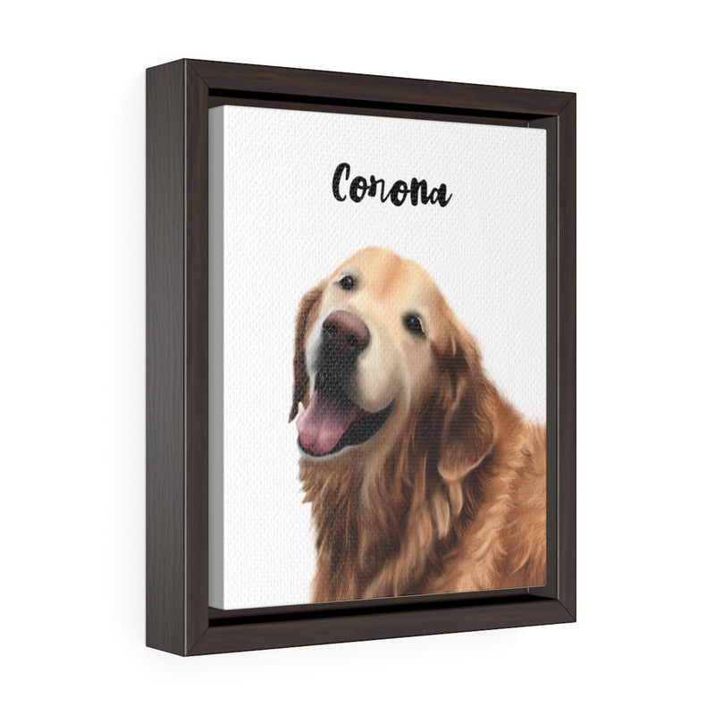 Custom • Framed Premium Gallery Wrap Canvas • White Background