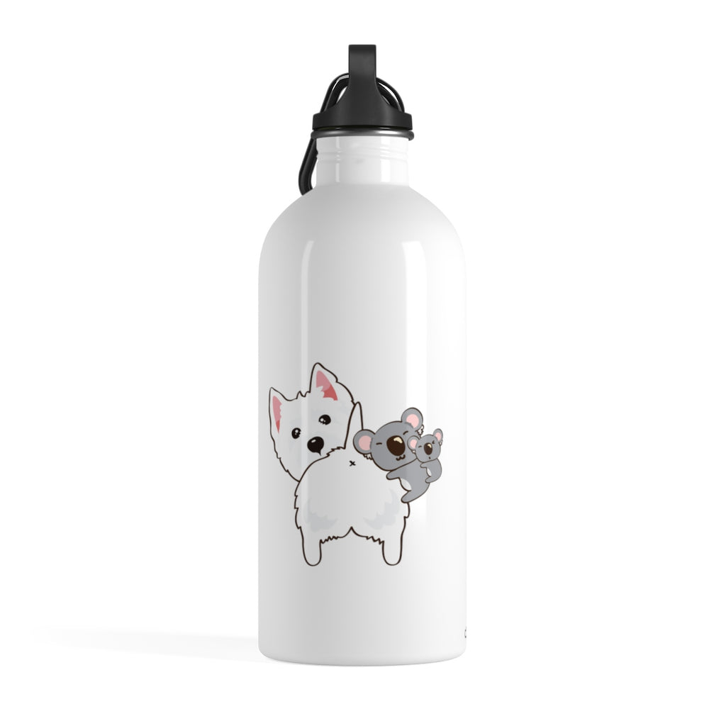 Stainless Steel Water Bottle - NOTHING BUTT LOVE (White)