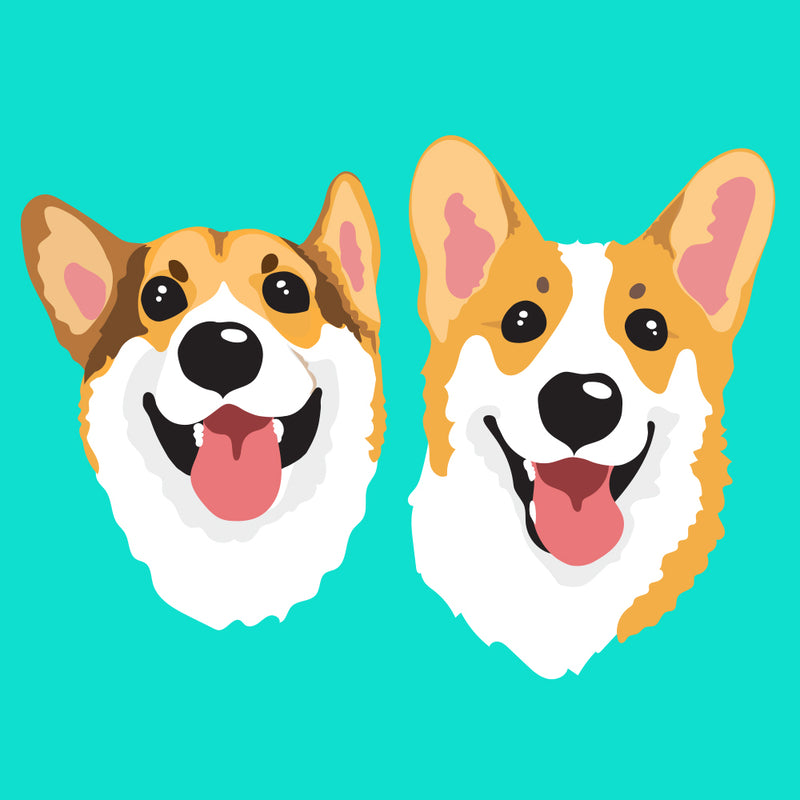 Cartoonish Pet Portrait • 2 Pets