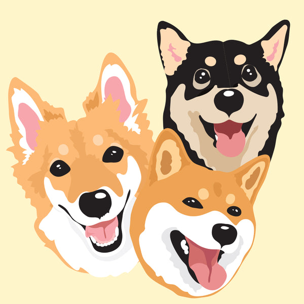 Cartoonish Pet Portrait • 3 Pets