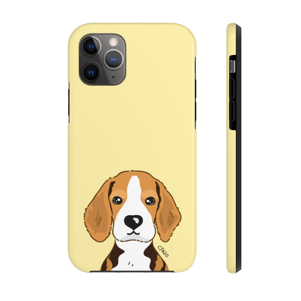 Beagle Tough Phone Cases (Light Yellow)