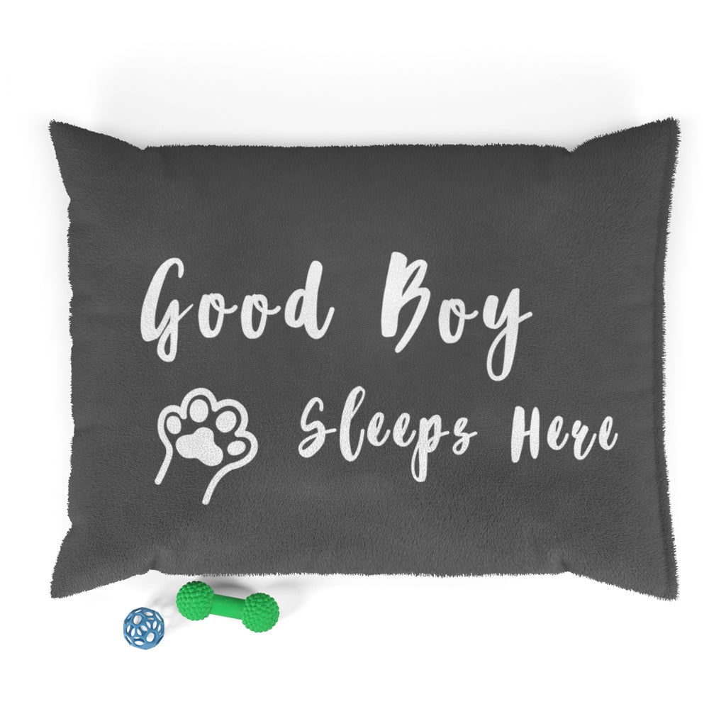 Pet Bed - Good Boy Sleeps Here (Dark Grey)
