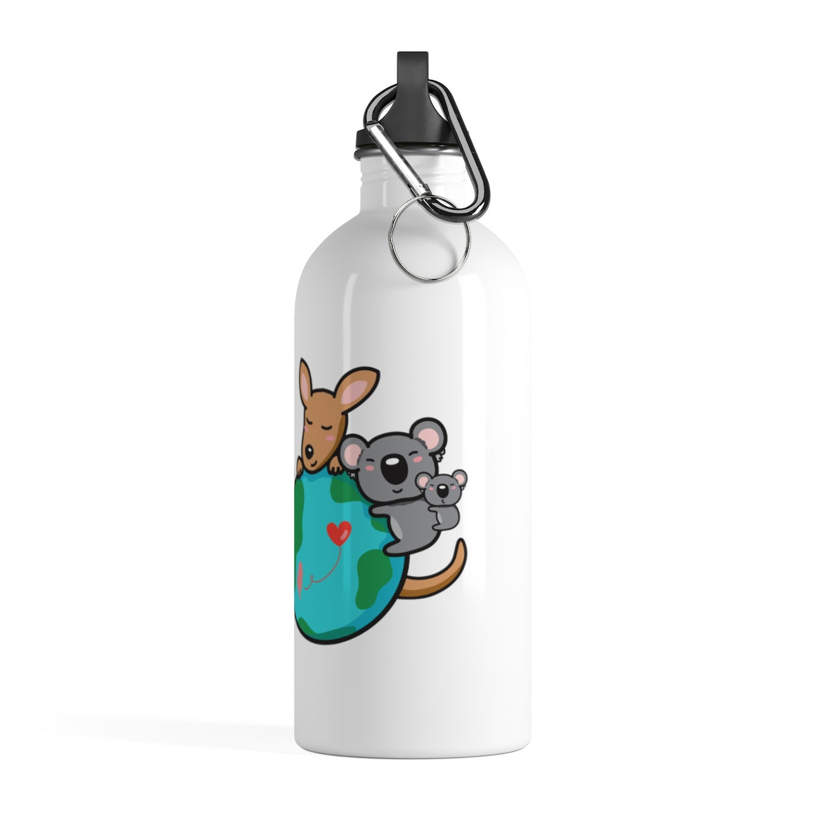 Stainless Steel Water Bottle - NEVER GIVE UP!