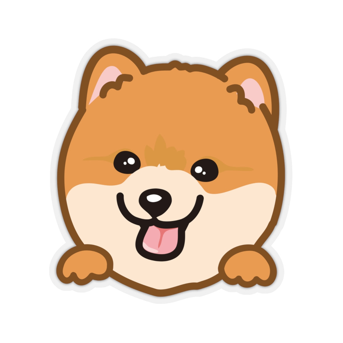 Sticker - Pomeranian (Red)