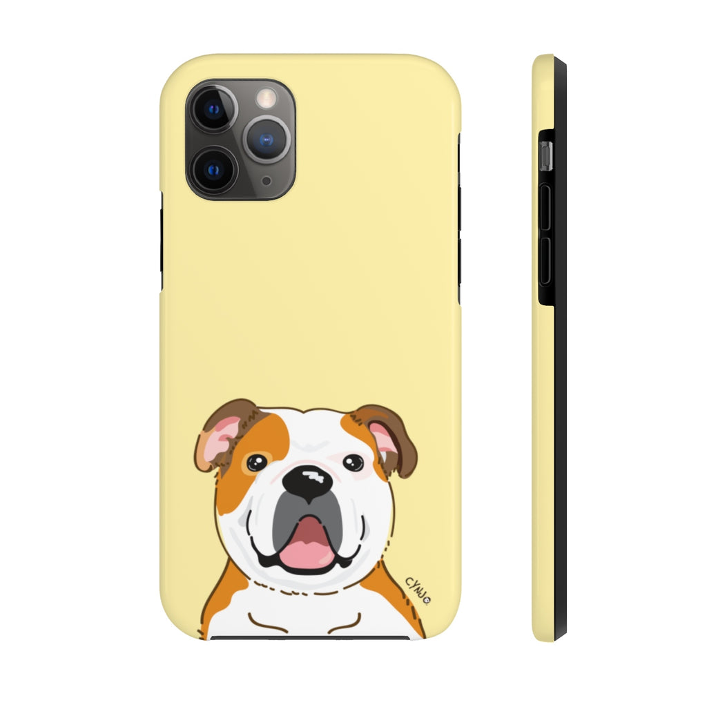 Bulldog Tough Phone Cases (Light Yellow)