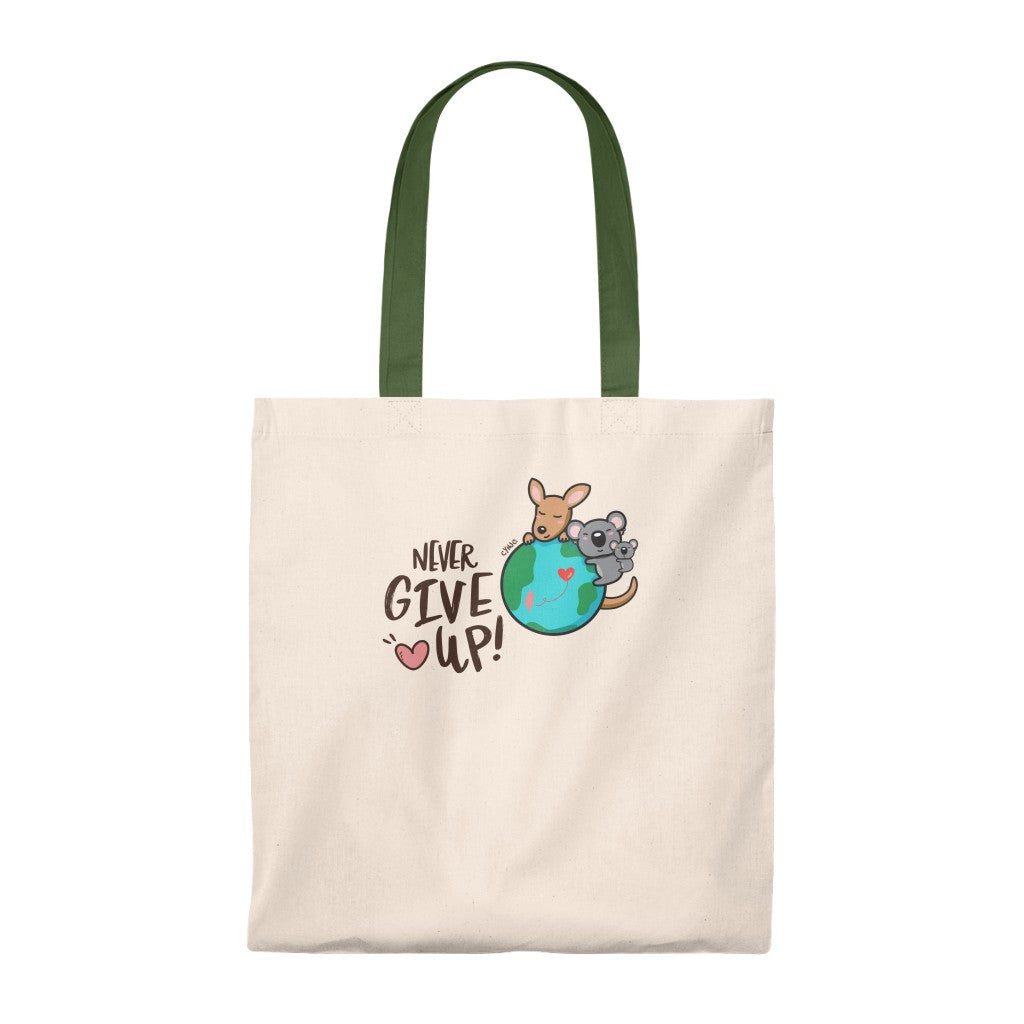Tote Bag - NEVER GIVE UP! Saving Wildlife
