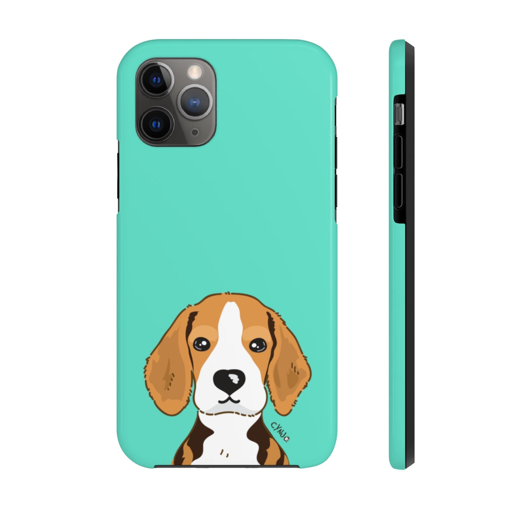Beagle Tough Phone Cases (CYNJO Blue)