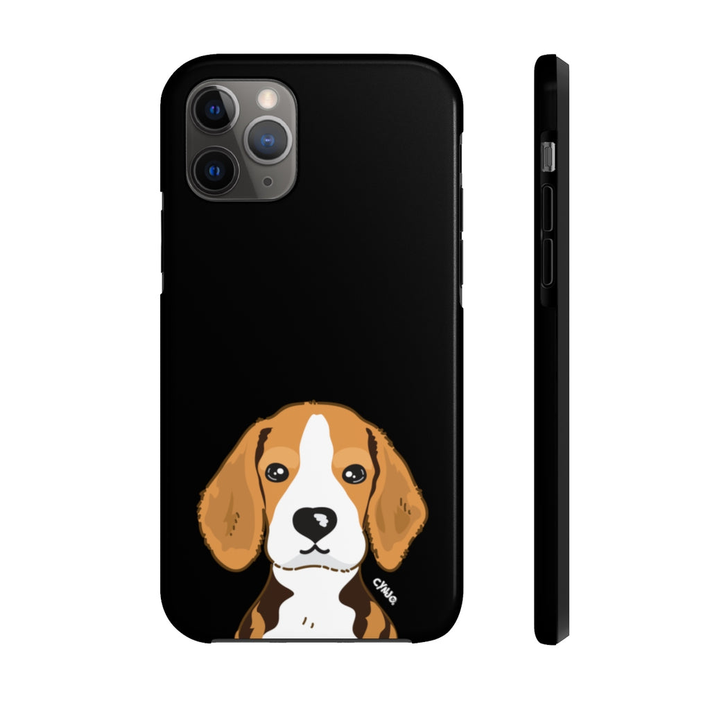 Beagle Tough Phone Cases (Black)