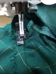 Sewing the facing in