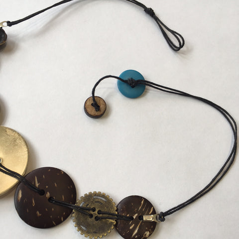 Makings of a button necklace