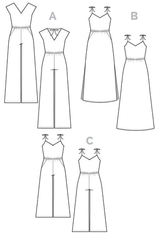 Sallie Pattern technical drawing