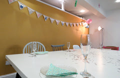 Baby Shower set up at Make in Plymouth