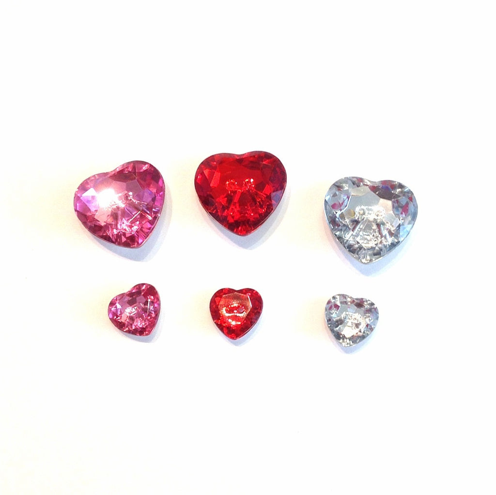 Sparkly Heart Button