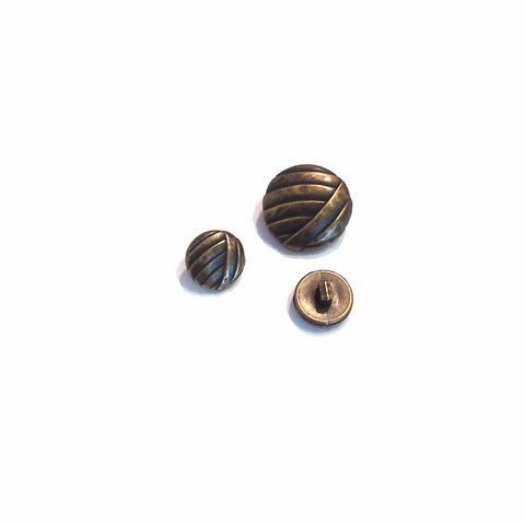 Metal-effect-bronze-button