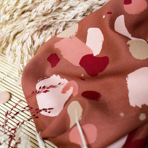 Granito Chestnut Viscose fabric by Atelier Brunette
